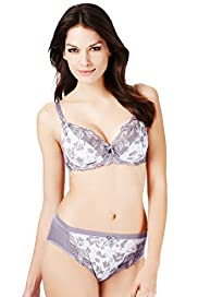 Per Una Comfort Floral Embroidered Non-Padded B-DD Bra