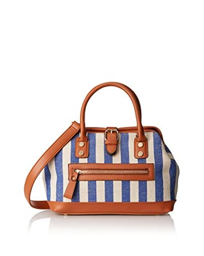 Nila Anthony Women's Stripe Satchel, Blue