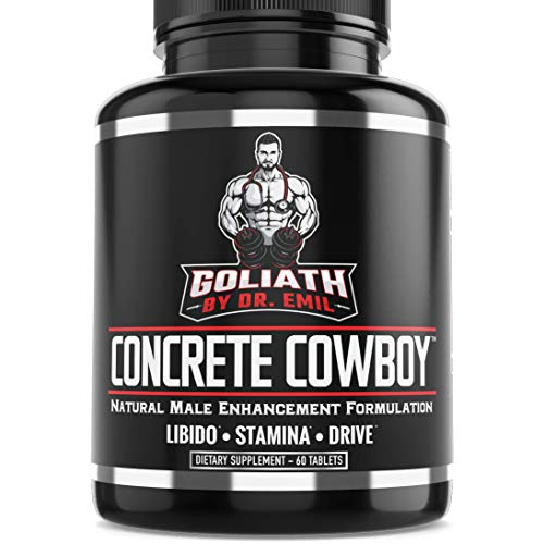 Goliath by Dr. Emil Concrete Cowboy - Male Enhancement Supplement - Libido and Testosterone Booster, Muscle Growth and Endurance (60 Veggie Capsules)