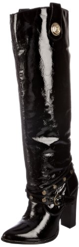 Hunter Women's Camborne Patent Leather Black Knee High Boots W24334 7 UK