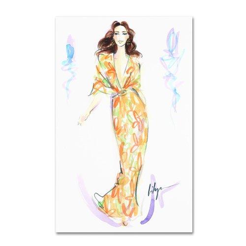 Trademark Fine Art Caftan Fan Artwork By Jennifer Lilya front-368601