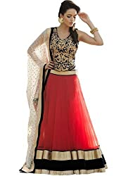 Fabron red designer embroidred lehenga for woman