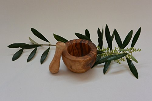 Edge 6 cm Olive Wood Mortar and Pestle