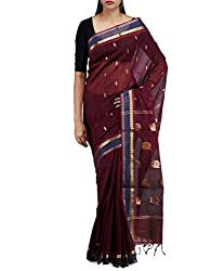 Unnati Silks Women Maroon Mysore Sico Saree
