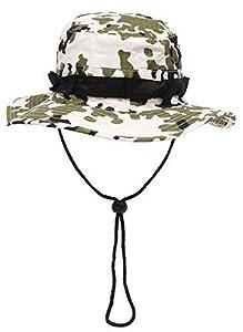 US GI bonnie hat, rip stop, bande menton, Couleur:schneetarn/snow camo;Taille:L