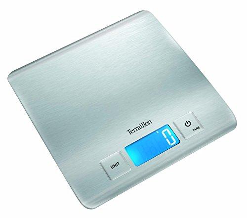 Terraillon Carre Inox Ultra Slim Balance Électronique 5 kg