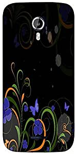 Snoogg abstract swirl design elements Designer Protective Back Case Cover For Micromax A117