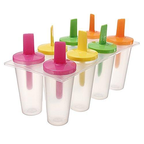 SODIAL(R) Sucette Glacee Creme glacee Fabricant Pop Pops Moule a gateau Moule de Popsicle yogourt Glaciere Refrigerateur Congelateur Glace Traite 8 cellules par