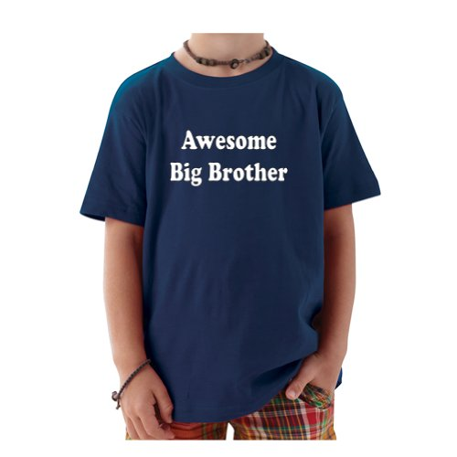 So Relative! Awesome Big Brother Baby-Boys & Kids T-Shirt (Navy, Youth Medium (10-12)