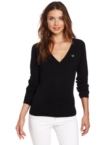Fred Perry Women's Wide V-Neck Sweater