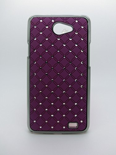 Maclogy 2014 Latest Fashion Design Luxury Dazzling Rhinestones Shiny Crystal Diamond Plating Protective Shell Trapped Difficult Cases Samsung Galaxy I9103 And Fashion Chain Crystal Ornaments Color Uv Radiation Gifts (Purple)
