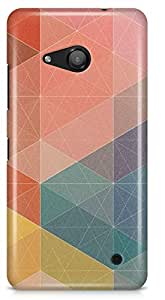 Lumia 550 Back Cover by Vcrome,Premium Quality Designer Printed Lightweight Slim Fit Matte Finish Hard Case Back Cover for Lumia 550