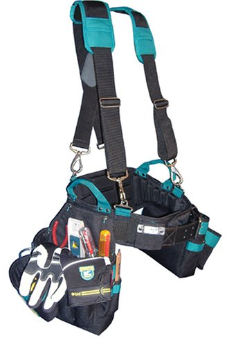 Professional Carpenter's Complete Package (Tool Belt, Suspenders, and Gloves) Medium 30-34 inch Waist