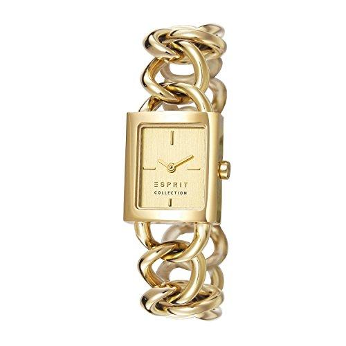Esprit  ARTEMIS - Reloj de cuarzo para mujer, con correa de acero inoxidable chapado, color dorado