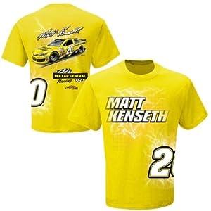 Nascar Matt Kenseth #20 Dollar General Electric Yellow T-Shirt Adult Large Tee by Checkered Flag