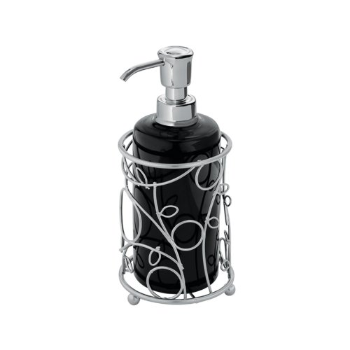 InterDesign Twigz Soap Pump, Silver/Black