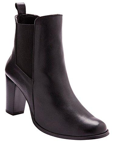 Balsamik - Stivaletti pelle con tacco alto, larghezza comfort - - Size : 35 - Colour : Nero
