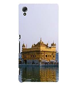 Golden Temple 3D Hard Polycarbonate Designer Back Case Cover for Sony Xperia Z4