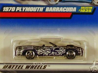 Mattel Hot Wheels 1999 1:64 Scale Purple 1970 Plymouth Barracuda Die Cast Car Collector #1035 - 1