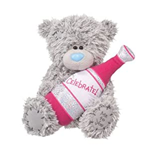Douglas Cuddle Toys 8'' Plush TATTY TEDDY Celebrate With Bubbly Bottle at Sears.com