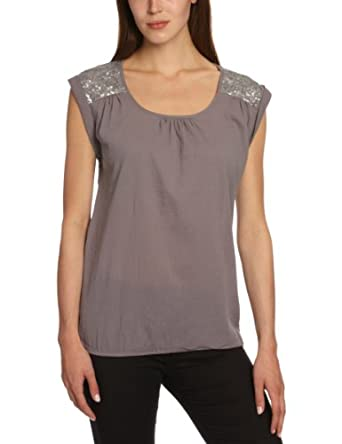 ESPRIT Damen Bluse 053EE1F011, Gr. 40 (L), Grau (033 granit)