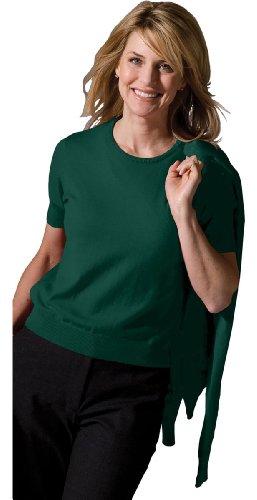Ed Garments Women'S Jewel Neck Long Sleeve Cardigan, Forest, Small