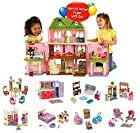 Loving Family Grand Dollhouse Super Mega Bonus Set ***7 Rooms of Furniture + Everything For Baby Included*** (Caucasian Family)