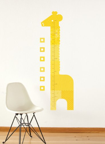 Petit Collage Fabric Wall Growth Chart Decal, Giraffe
