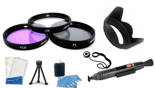 58Mm Filter Kit And Lens Hood + Care Package + Mini Tripod + Lcd Screen Protectors + Camera Cleaning Kit For Canon 58Mm Lenses
