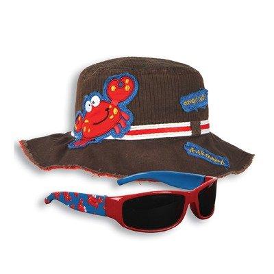 Crab Bucket Hat and Sunglasses Set