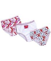 "Sesame Street ""Elmo"" 3-Pack Girls Panties (Sizes 2T - 4T) - colors as shown, 2t - 3t"