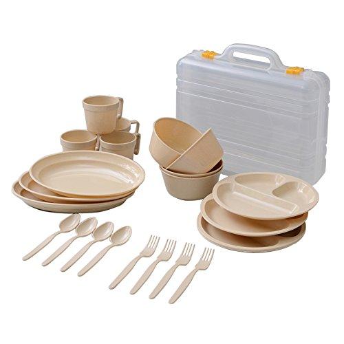 キャンパーズコレクション デイパーティー食器セット(4人用6種類) ナチュラル PCW-12(NA)