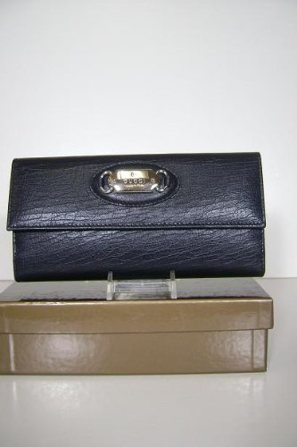 Gucci Wallets Dark Blue (Look Black) Leather Women 231841