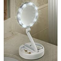 12x Plus 1x Lighted Folding Vanity & Travel Mirror