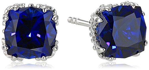 Created-Gemstone-Jubilee-Cut-Stud-Earrings-with-Crown-Setting-in-Sterling-Silver-7mm