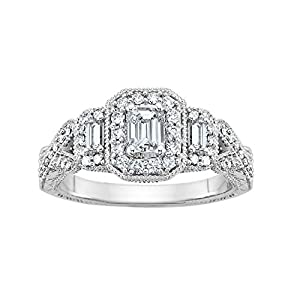 7/8 ct. tw. Diamond Engagement Ring in 14K White Gold (Size 5.0)
