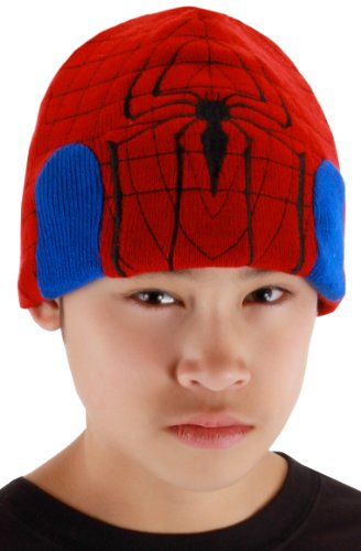 elope Marvel Men's Spider-Man Beanie Hat, Red, One Size - 1