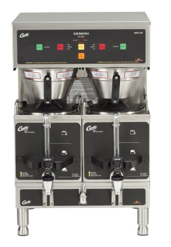Wilbur Curtis Gemini Twin Coffee Brewer, ADS Digital, 1.5 Gal. - Commercial Coffee Brewer  - GEM-12D-10 (Each)