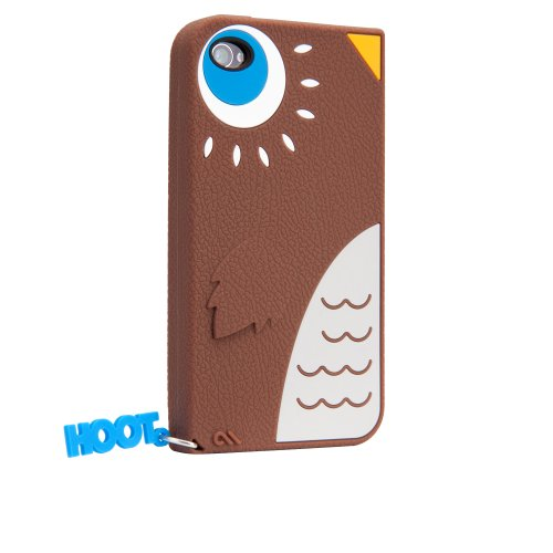 Case-Mate iPhone 4S / 4 CREATURES: Hoot Owl Case, Brown クリーチャーズ フクロウ ホー シリコン ケース CM016349