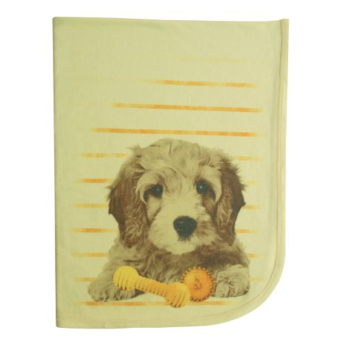 "Clever Birds Baby Blanket, Puppy, 30"" X 40"" back-651002"