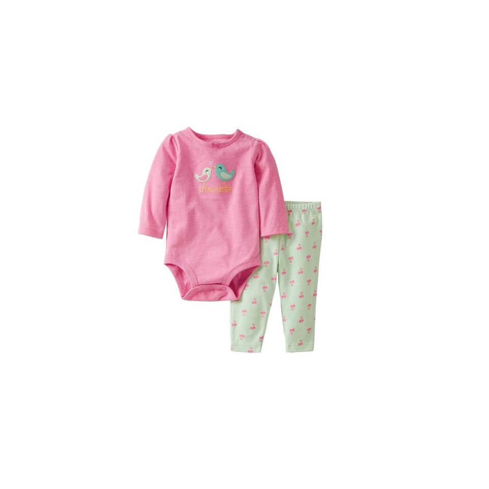 Carters 2 Piece Bodysuit and Pants Set (Baby)   Cherry 6 Months