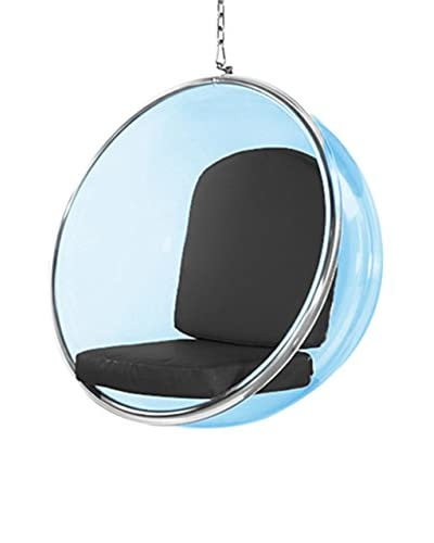 Manhattan Living Blue Bubble Hanging Chair, Black