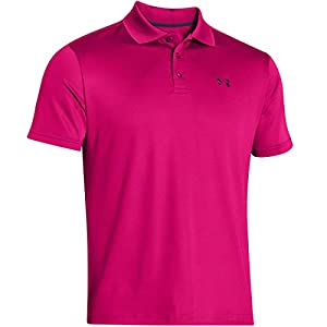 Under Armour 2015 Mens UA Performance Golf Polo Shirt - Tropic Pink - S