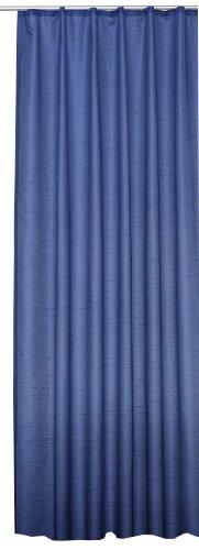 Übergardine Dekoschal #256 Vorhang blickdicht / lichtdurchlässig Kräuselband Gardine moderne Unifarbe (blau, Kräuselband / Universalband)