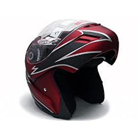 RED WINE FLIP UP MODULAR MOTORCYCLE SNOWMOBILE HELMET~XL(KKY-1A1-XL-#500MATTRED): Everything Else