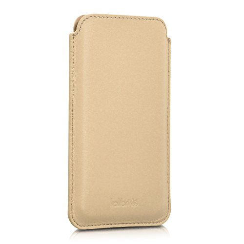 kalibri-Leder-Tasche-Hlle-fr-Apple-iPhone-6-6S-7-Handy-Case-Cover-Echtleder-Schutzhlle-in-Sand