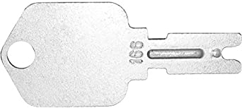 Ignition key for Broce, Broderson, Caterpillar, Clark, Crown, Daewoo, Gradall, Hitachi, Dynapac, Hypac, Hyster, Ingersoll-Rand, JLG, Mustang, Pollock, Shuttlelift, SkyTrak, Yale, Part Number 166