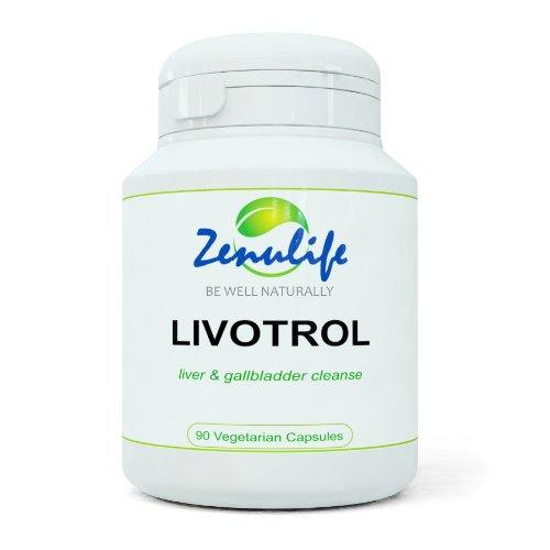 Zenulife Livotrol Enhanced Liver Detox and Gall Bladder Cleanser - Pack of 60 Capsules