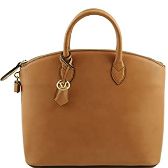 Amazon.com: Tuscany Leather TL Bag - Leather tote Cognac: Clothing