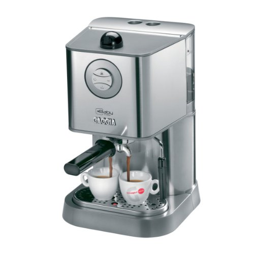 Gaggia 12300 Baby Class Manual Espresso Machine, Brushed Stainless Steel with 2 Free Coffee Boxes and More...
